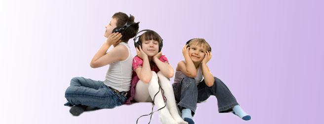 Kopfhörer und Kinder
